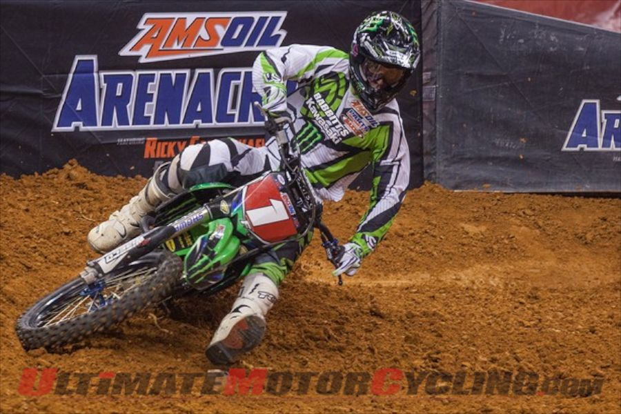 Kawasaki's Bowers Wins Wichita AMSOIL Arenacross