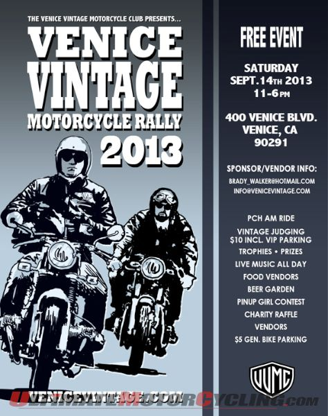 Venice Vintage Motorcycle Club Rally Set for September