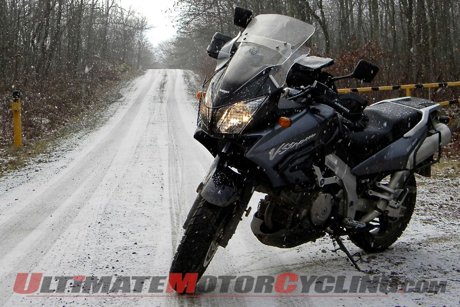 Author's 2002 Suzuki V-Strom DL1000, ugly but winter friendly