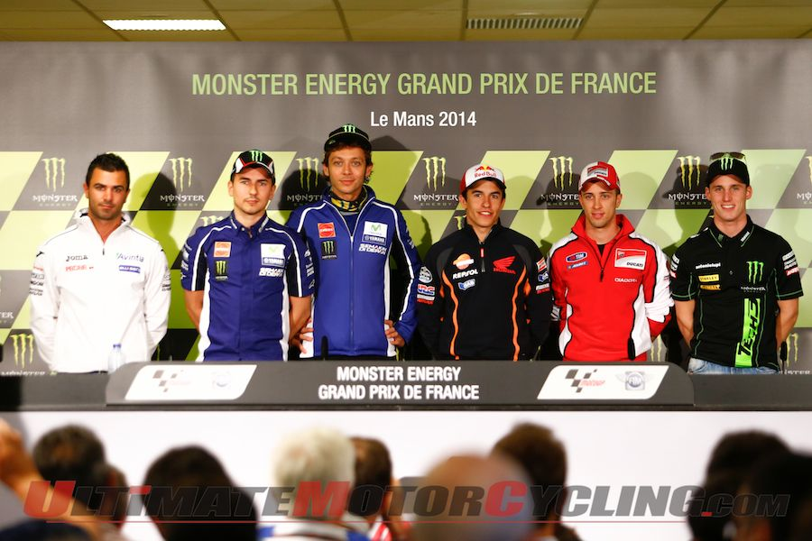 2014 Le Mans MotoGP Press Conference Highlighted by Marquez