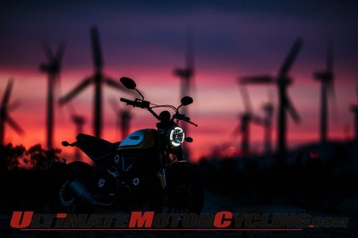 2015 Ducati Scrambler at Night