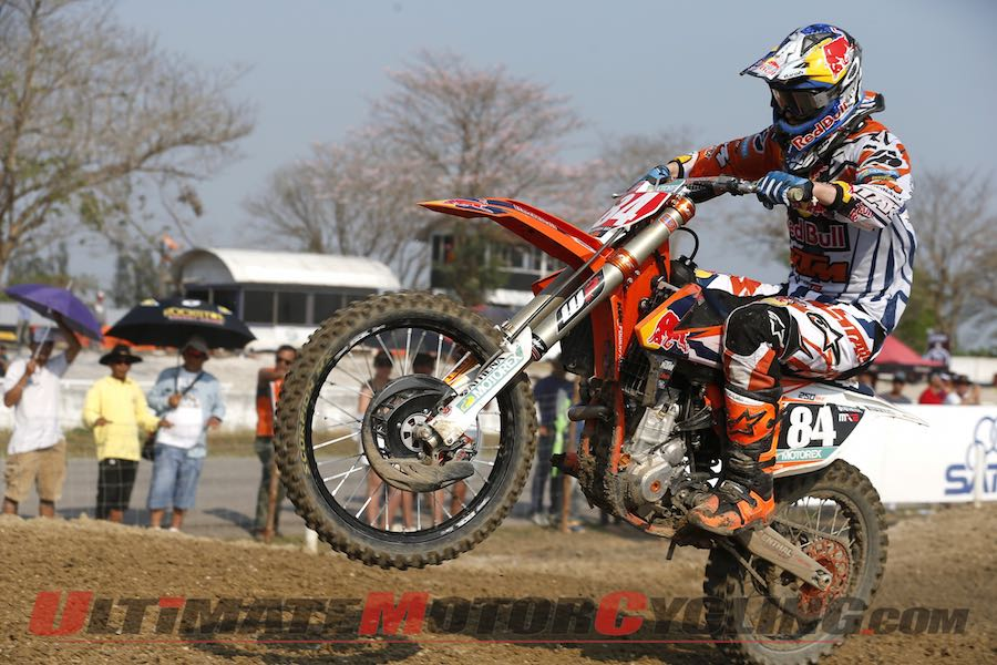 2015 Thailand MX2 Results | KTM's Herlings Doubles Again