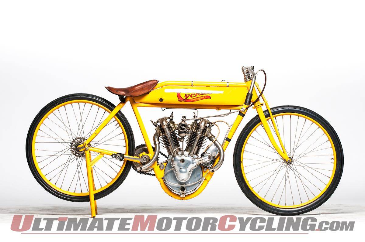 McQueen's 1915 Cyclone Board Track Racer Sells for $775K right side