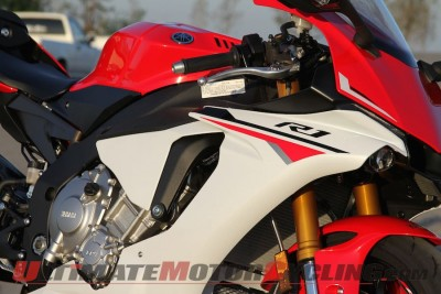 2015 Yamaha YZF-R1 Test | First Impressions from the Track left side