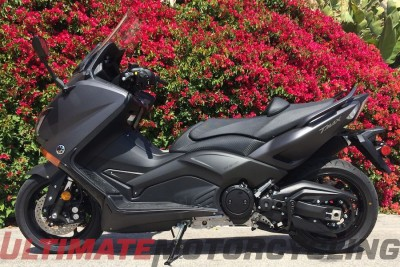2015 Yamaha TMax Review - A Motorcyclist's Scooter left side