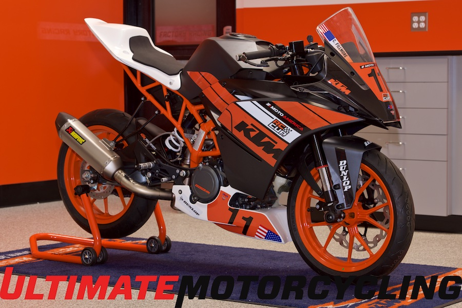 MotoAmerica KTM RC390 Cup Bike Specs & Exclusive Photos Right