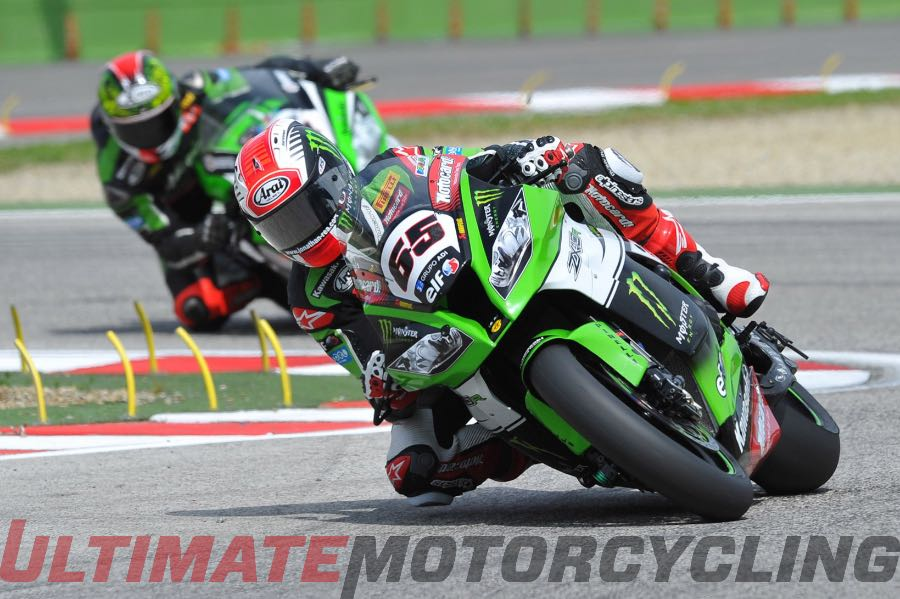 World SBK Imola 2015 Upside/Downside Jonathan Rea/Tom Sykes