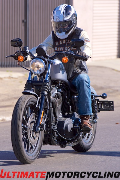 2015 Harley-Davidson Sportster Iron 883 Review Riding