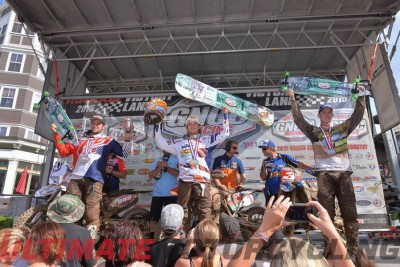 KTM's Kailub Russell Earns 30th GNCC Win at Snowshoe - Podium
