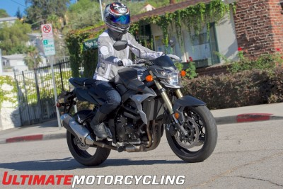 2015 Suzuki GSX-S750 Test | Commuter & Sport Review Right front