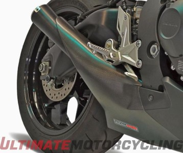 Honda CBR1000RR Taylormade GP2 Exhaust Released black