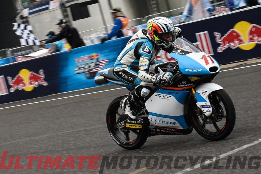 2015 Indy Moto3 Results | Loi Capitalizes on Slicks, Earns Debut Win