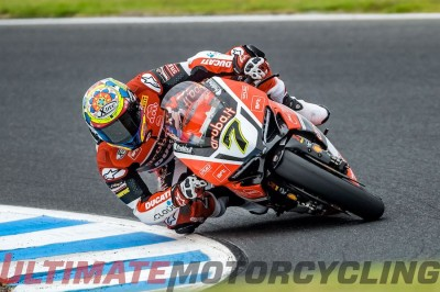 Ducati Chaz Davies at Phillip Island SBK Test