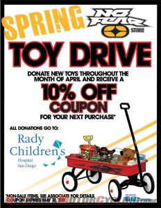 No Fear & Rady Childrens Hospital Toy Drive