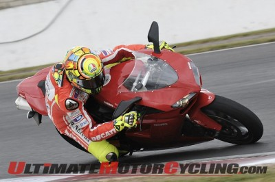 Rossi on Ducati 1198 at Silverstone (Video)