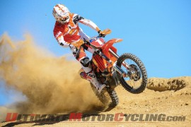 Factory FMF/KTM's Kurt Caselli during a photo shoot for the 2013 AMA Hare & Hound Series