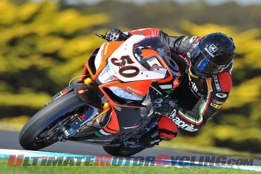 Phillip Island World SBK: Aprilia's Fabrizio on Provisional Pole