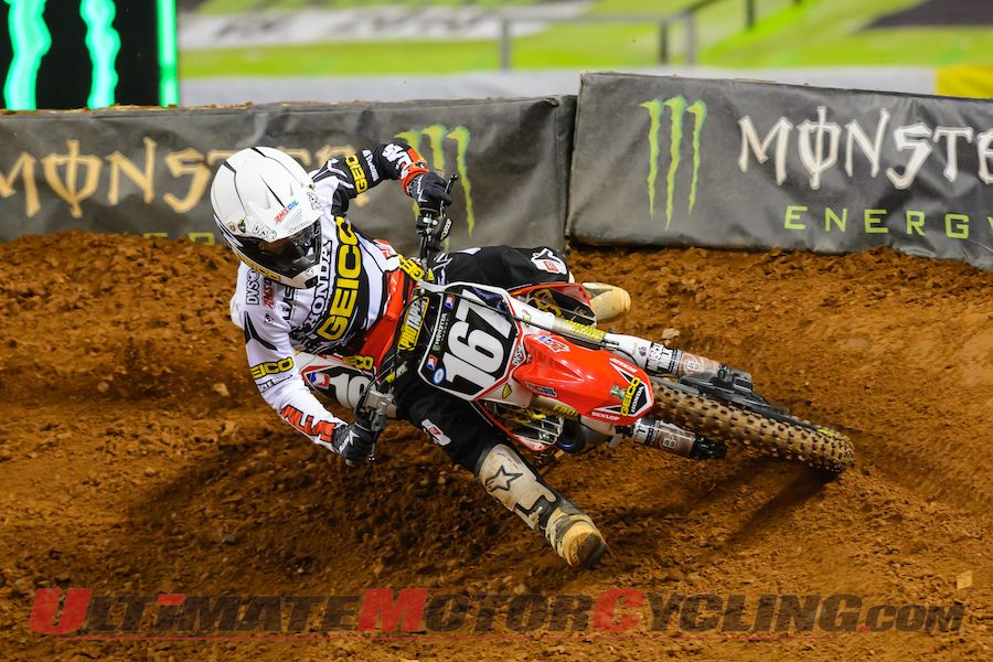 GEICO Honda's Hahn Takes 1st Supercross Victory