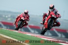 Nicky Hayden and Ben Spies aboard Ducati 1199 Panigale R at COTA