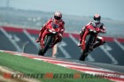 Nicky Hayden & Ben Spies aboard Ducati 1199 Panigale R at COTA
