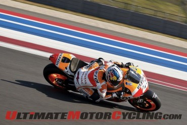 Repsol Honda's Dani Pedrosa at Circuit of the Americas in Austin, Texas
