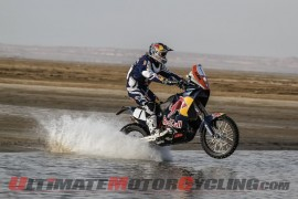 KTM's Marc Coma during stage 3 of Sealine Rally
