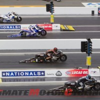 Harley's Krawiec Pilots V-Rod to Charlotte NHRA 4-Wide Win