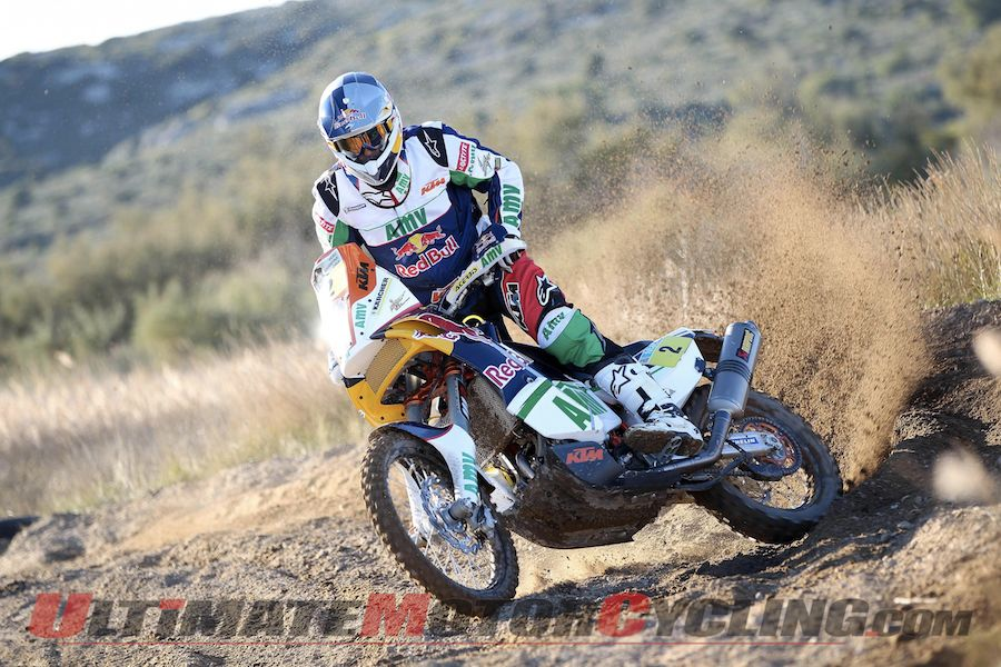 KTM's Marc Coma aboard the 450 Rally