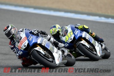 Yamaha Factory Racing's Jorge Lorenzo and Valentino Rossi