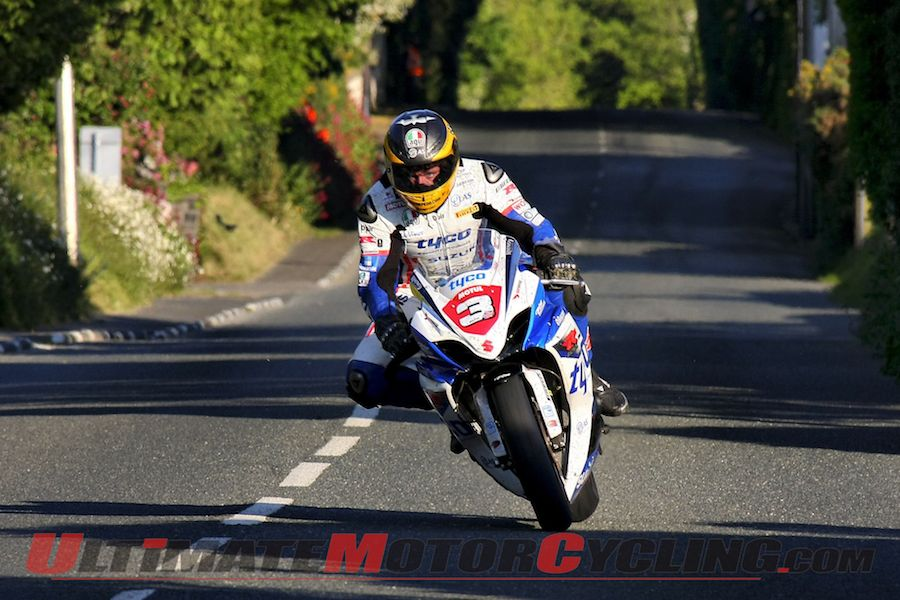 TYCO Suzuki's Guy Martin at 2012 Isle of Man TT