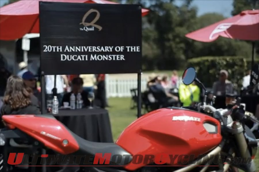 Quail Gathering Ducati Monster 20th Anniversary Ride (Video)