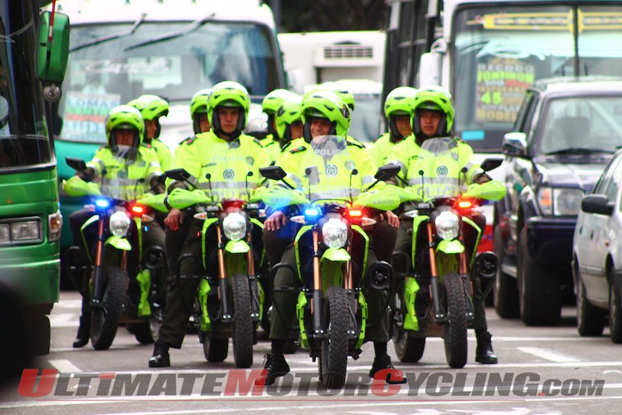 Colombian Law Enforcement Buys 100 Zero Police Motorcycles