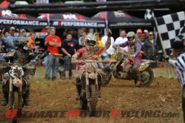 KTM's Kaliub Russell at Mountaineer Park GNCC