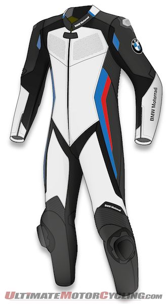 Computer sketch of Dainese D-Air Racing Suit built for BMW Motorrad
