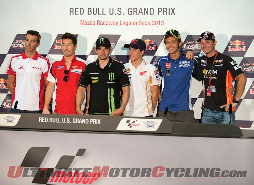 Hayden & Rossi Highlight Laguna Seca MotoGP Press Conference
