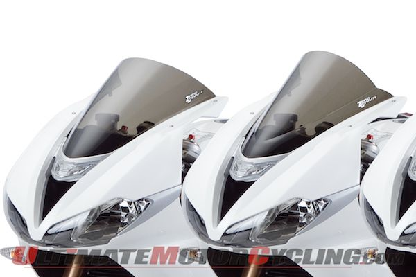 2013 Triumph 675 and 675 R sportbikes with Zero Gravity windscreens