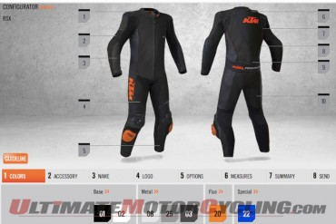 KTM Custom Leather Suit Configurator Now Online