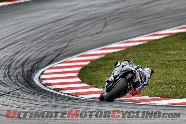 Jorge Lorenzo sideways at Sepang International Circuit