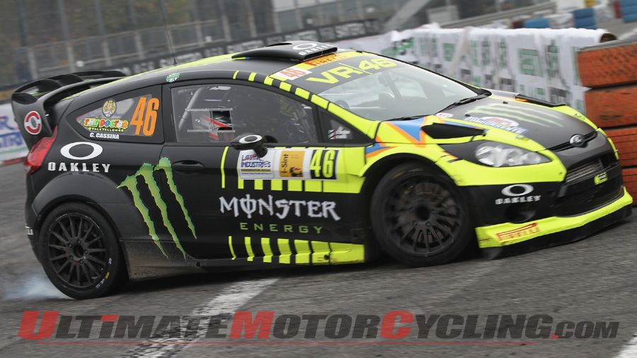 Rossi Pilots Fiesta to 2nd at Monza Rally Show (Video)