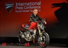 Ducati CEO Claudio Domenicali next to the 2014 Monster 1200 S