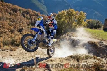 Despres aboard the Yamaha YZ450F Rally