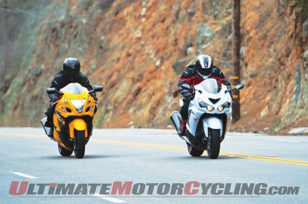 2014 Kawasaki Ninja ZX-14R Vs. Suzuki Hayabusa LE | Civilized Speed