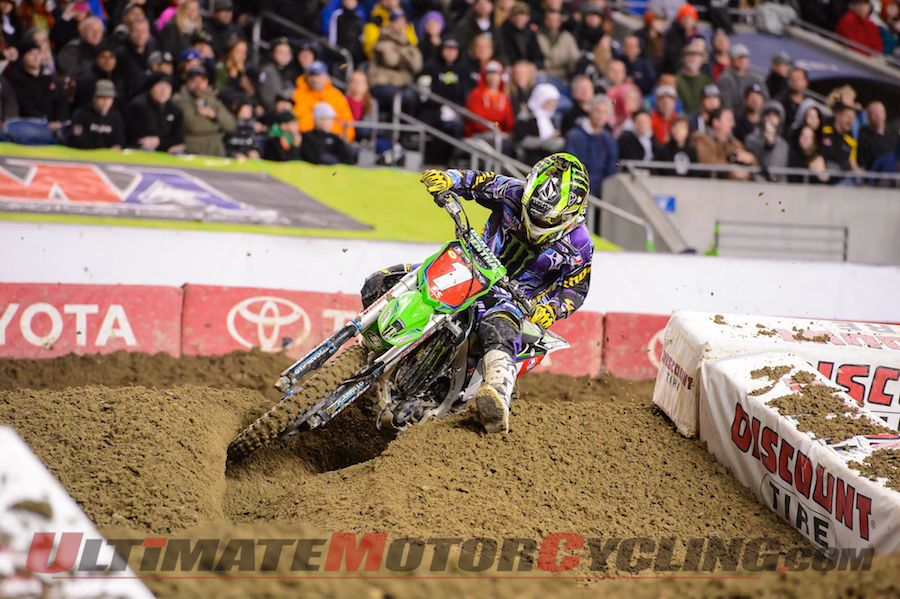 Monster Energy Kawasaki's Ryan Villopoto - the reigning AMA SX Champ