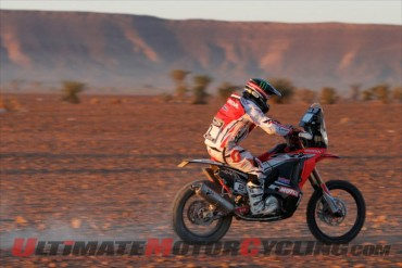 Honda CRF450 Pilot Paolo Gonclaves, the 2013 FIM Cross Country Rally World Champio
