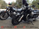 1974 Moto Guzzi El Dorado and 2013 Moto Guzzi California 1400 Custom