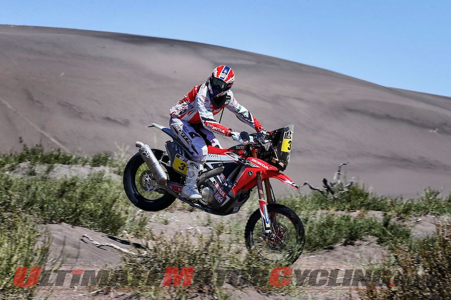 Dakar 2014 Stage 3 Motorcycle Results | Honda's Barreda Retains Lead
