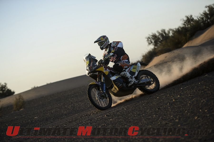 Dakar 2014 Stage 5 Motorcycle Results | KTM's Coma Takes Lead