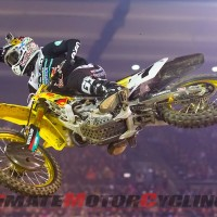 Suzuki's Stewart Crashes at A1 Supercross, Suffers DNF