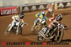 AMA Pro Flat Track's Bryan Smith (Kawasaki) leading the field