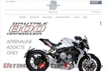 MV Agusta Restyles Website - Easier Navigation, Cleaner Layout